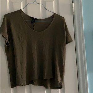 Dark green short-sleeve shirt